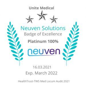 Platinum 100% Audit pass for HealthTrust Europe